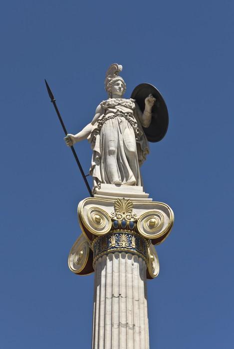 Nálepka Pixerstick Socha Atheny na Akademii v Aténách v Řecku - Evropa