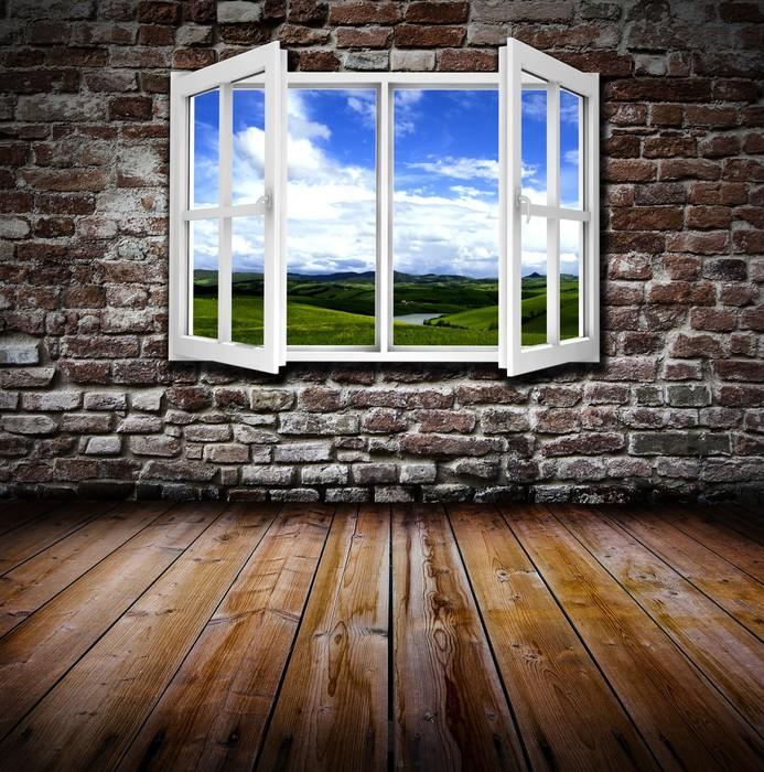 Vinylová Tapeta Otevřete okno v místnosti - Témata