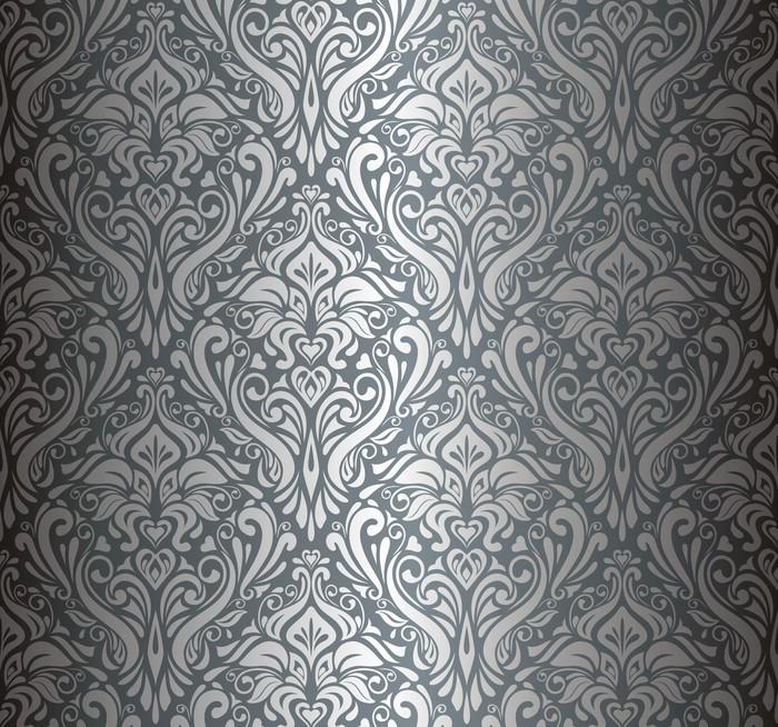 Fotomural papel tapiz de poca de lujo silver pixers for Papel pintado plastificado