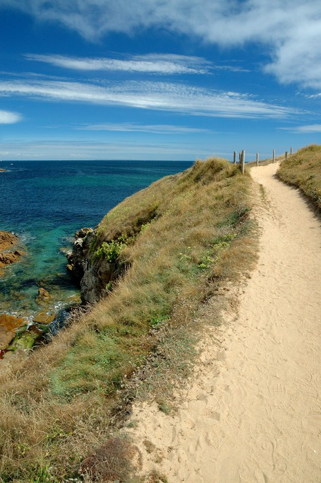 Vinylová Tapeta Cesta na pobřeží, Quiberon, Francie - Voda