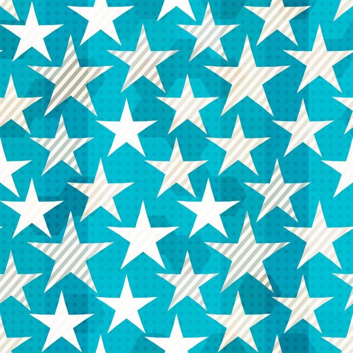 Vinylová Tapeta Modrá hvězda bezešvé - Témata