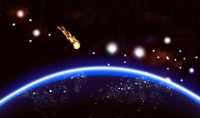 Vinylová Tapeta Big modrá planeta pozadí - Meziplanetární prostor