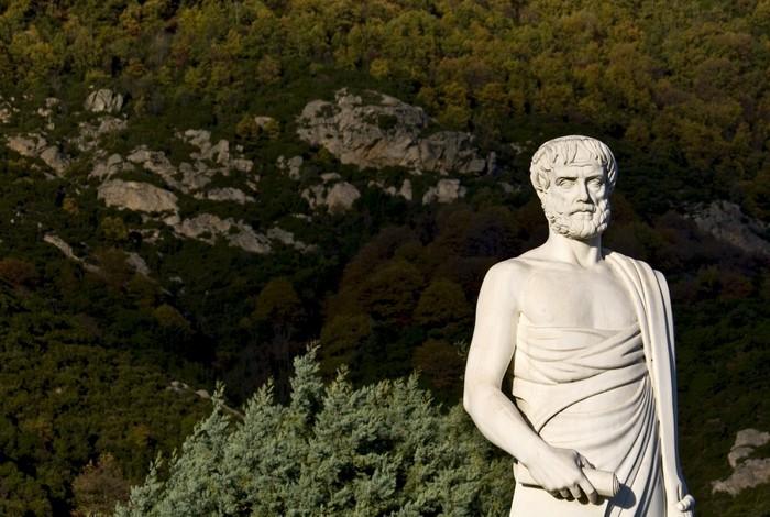 Vinylová Tapeta Aristoteles socha se nachází na Stageira Řecka - Evropa