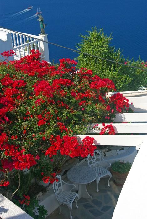 Vinylová Tapeta Santorini pohled - Evropa