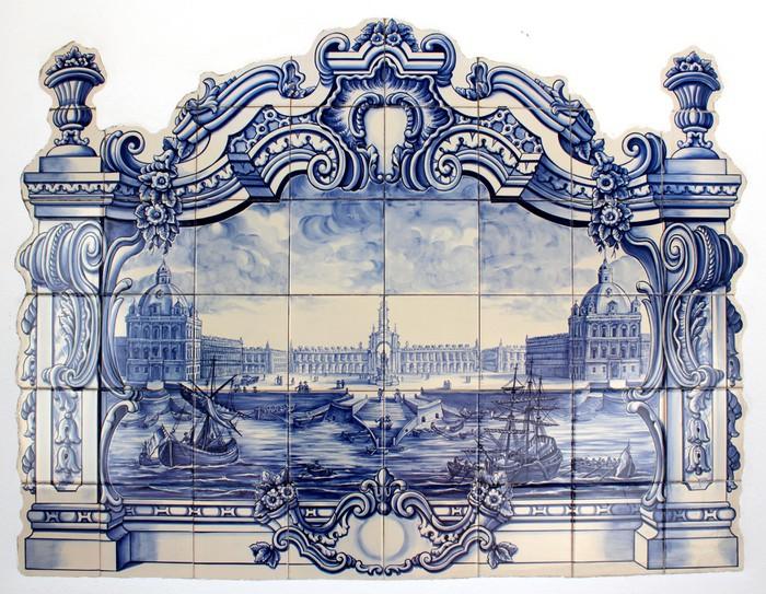 """Vinylová Tapeta """"Azulejo"""" portugalské tradiční ručně malované umění dlaždice - iStaging"""