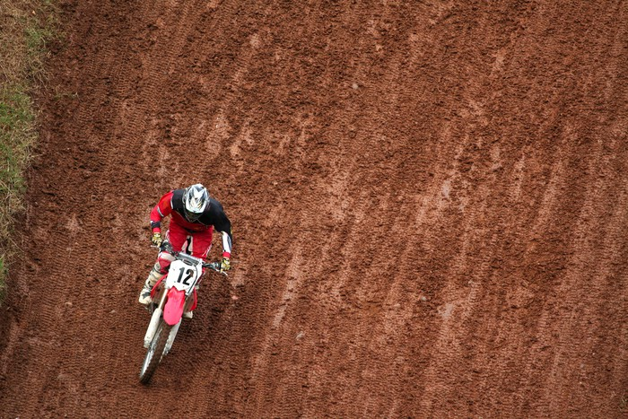 Man on motocross Wall Mural Pixers We live to change
