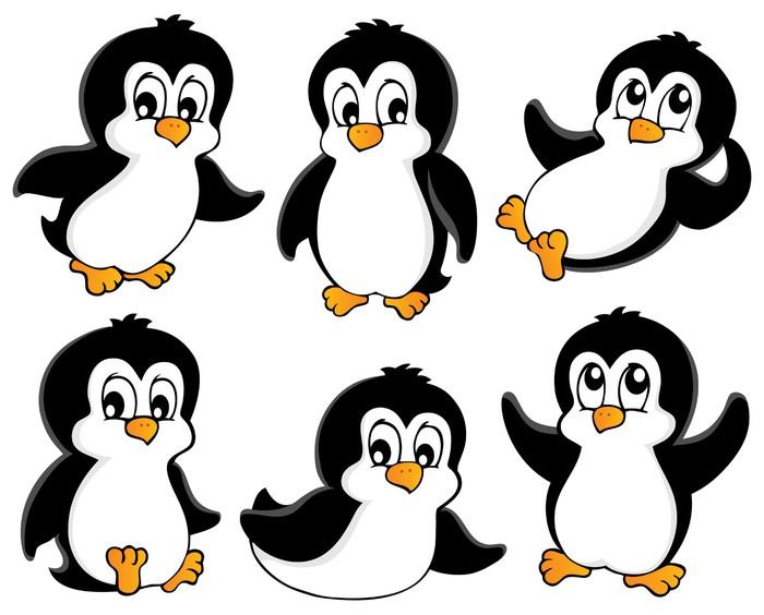 Naklejka liczne kolekcja pingwiny 1 pixers yjemy by for Disegno pinguino colorato