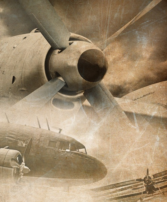 Retro aviation vintage background wall mural pixers for Aviation wall mural