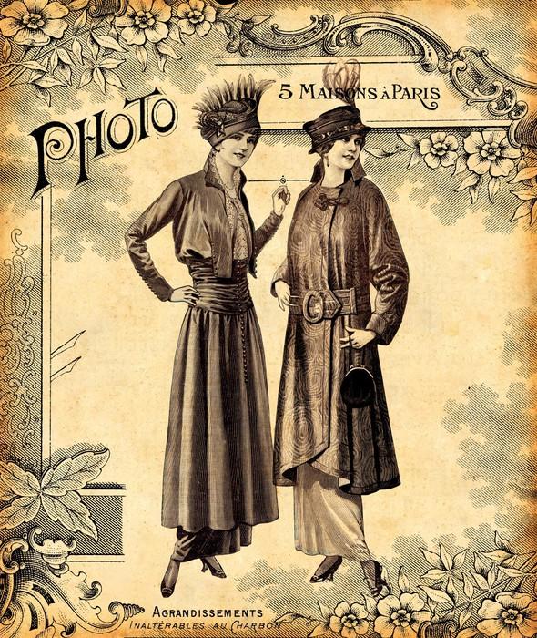 papier peint deux femmes la mode pixers nous vivons pour changer. Black Bedroom Furniture Sets. Home Design Ideas