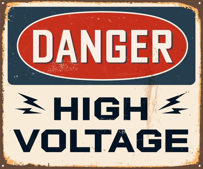 Pixerstick Aufkleber Jahrgang Metall Sign - Vektor - Grunge Effekte können entfernt werden - Themen