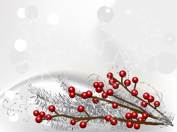 Vinylová Tapeta Vánoční bobule - Mezinárodní svátky