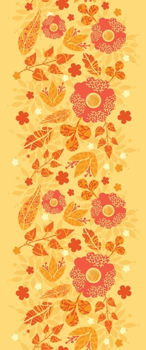 Vinylová Tapeta Vektorové zářivé požární květiny zlatá vertikální bezešvé vzor - Květiny