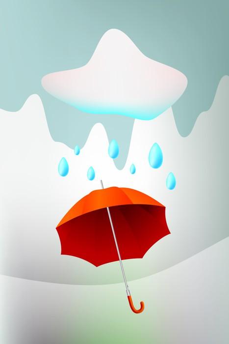 Vinylová Tapeta Deštník, podzim sezóna pozadí, deštivé počasí - Roční období