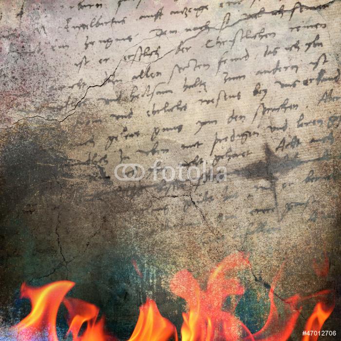 Vinylová Tapeta Vintage pozadí plamen a ručně psaný text - Čas