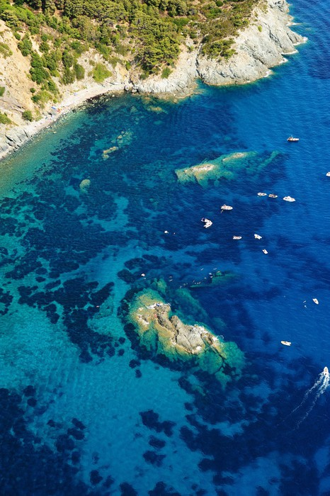 Vinylová fototapeta Isola d'Elba-Pomontebeach vrak - Vinylová fototapeta