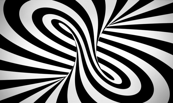 Vinylová Tapeta Abstraktní černé a bílé pozadí 3d - Abstraktní
