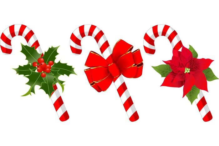 Vinilo Pixerstick Decoración del bastón de caramelo de Navidad ...