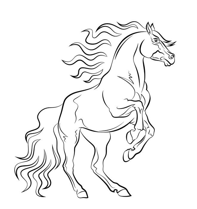 Vinylová Tapeta Mustang - Nálepka na stěny