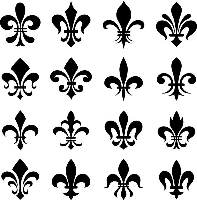 papier peint classic fleur de lys symbol set pixers nous vivons pour changer. Black Bedroom Furniture Sets. Home Design Ideas