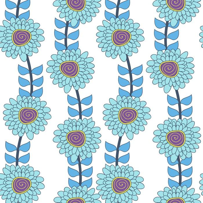 Sticker Pixerstick Texture florale - Styles