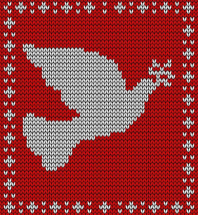 Vinilo Pixerstick Navidad tejer patrón paloma • Pixers® - Vivimos ...