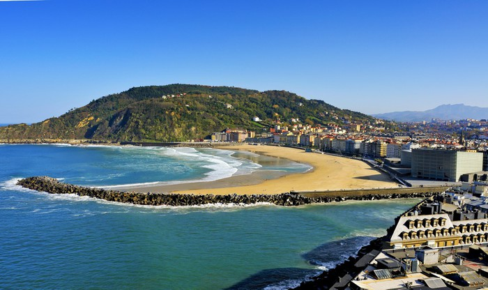 Vinylová Tapeta Zurriola Beach v San Sebastian, Španělsko - Témata