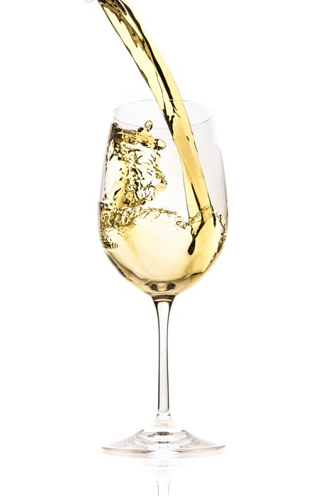 Vinylová Tapeta Bílé víno stříkající - Témata