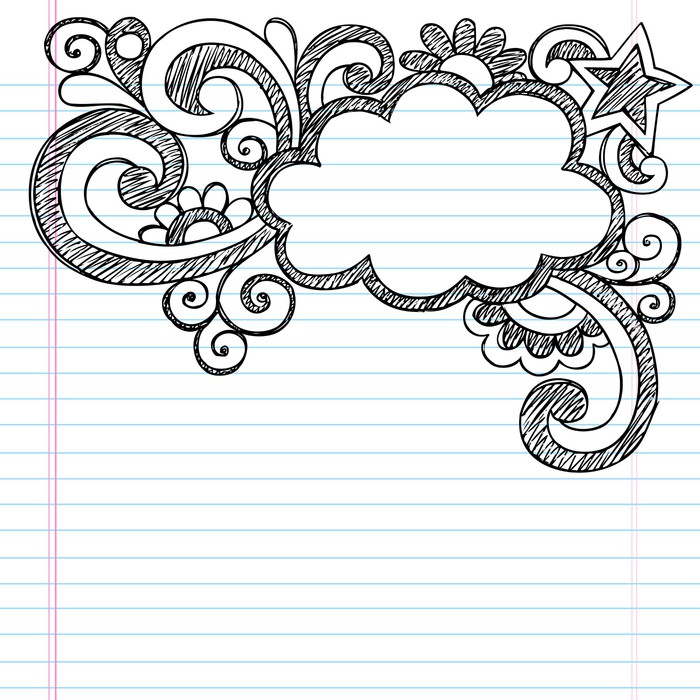 Cloud Frame Border Sketchy Back to School Doodles Poster • Pixers ...