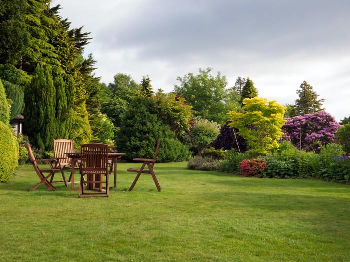 Tableau sur toile jardin anglais pixers nous vivons for Restaurant jardin anglais