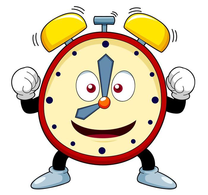 Vinilo Pixerstick Ilustraci 243 N Del Reloj De Alarma De