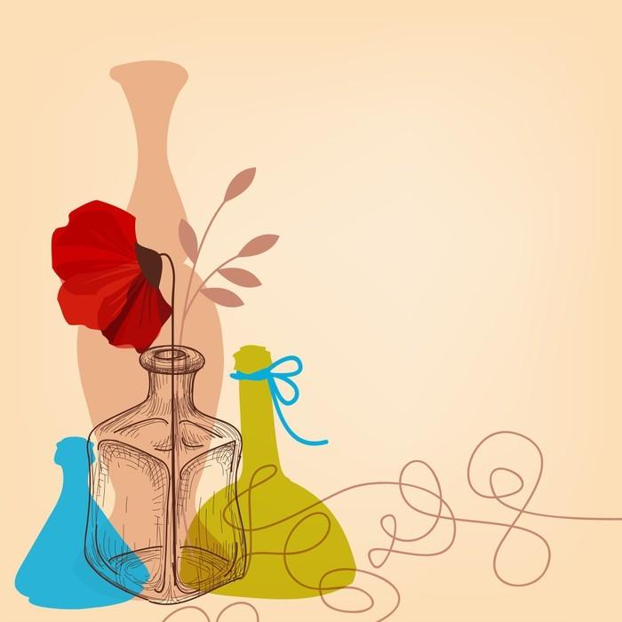Vinylová Tapeta Životní styl ilustrace s vázy a lahve - Národní svátky