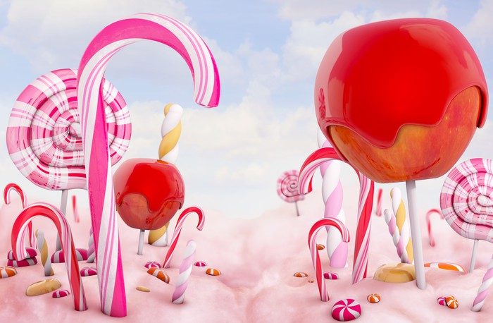 Candy land wall mural pixers we live to change for Candy wall mural