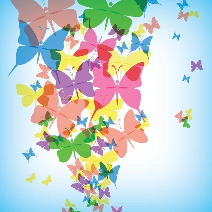 tableau sur toile fond color avec papillon eps10 pixers nous vivons pour changer. Black Bedroom Furniture Sets. Home Design Ideas