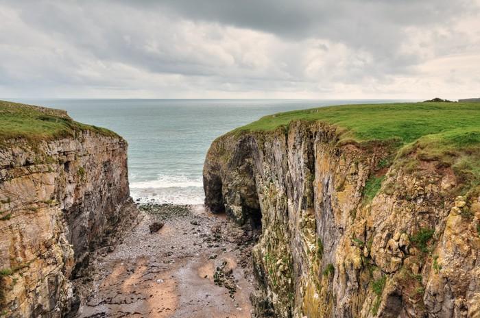 Vinylová Tapeta Raming díra, pobřežní funkce v Pembrokeshire. - Evropa
