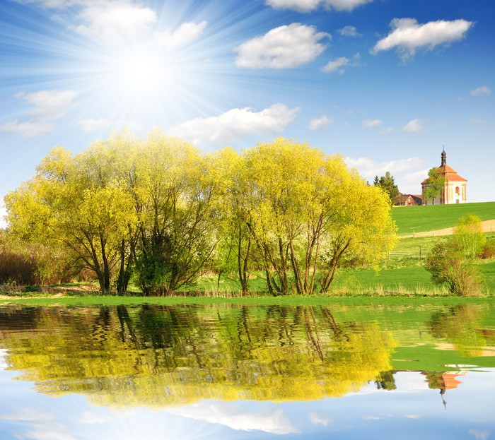 Papel pintado paisaje de primavera en la rep blica checa - Papeles pintados paisajes ...