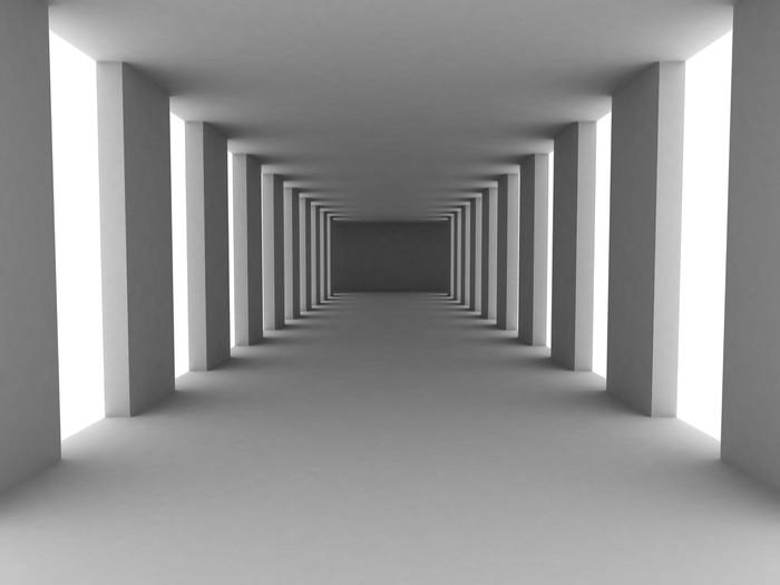 Fototapete einfacher korridor pixers wir leben um zu for Einfacher leben was brauchen wir wirklich