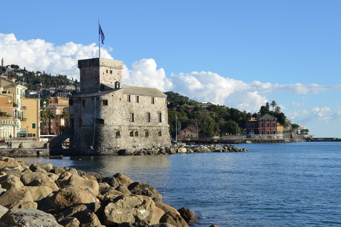 Vinylová Tapeta Hrad Rapallo na moři - Prázdniny