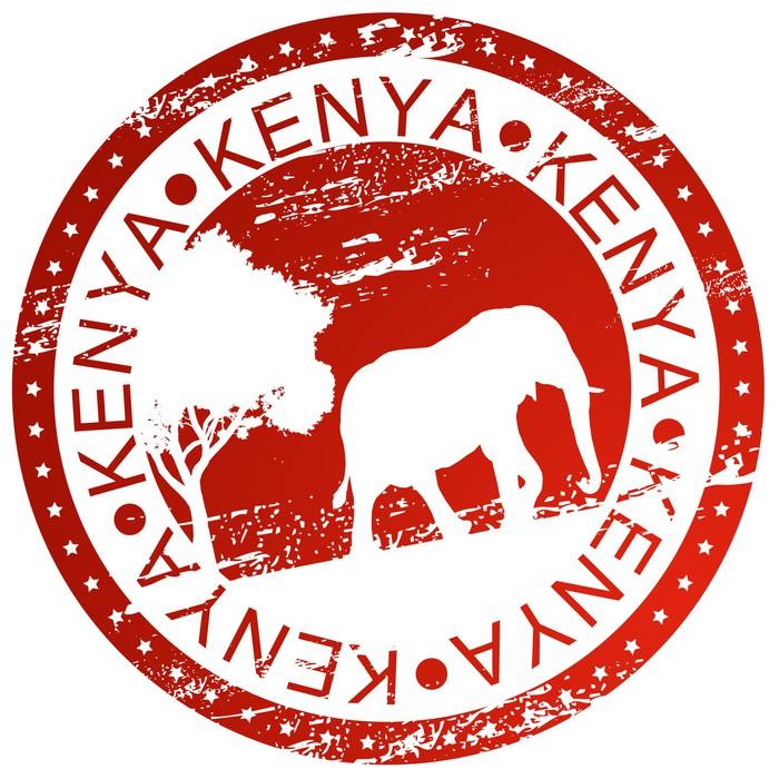 Vinylová Tapeta Razítko - Keňa - Afrika