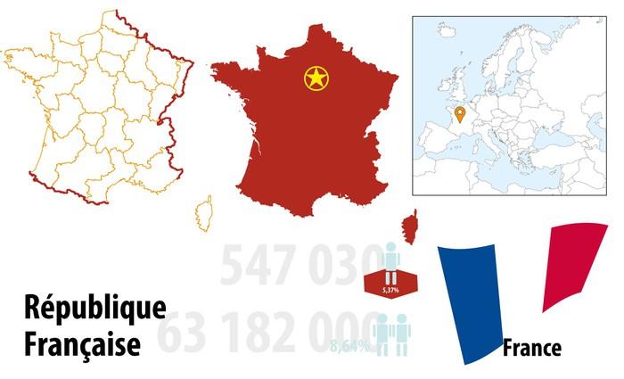 Vinylová Tapeta France - Evropa