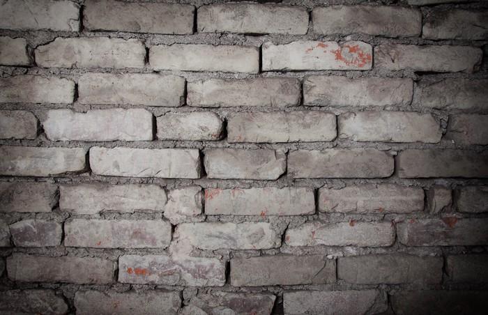Carta da parati old grungy grigio muro di mattoni texture for Carta da parati muro di mattoni