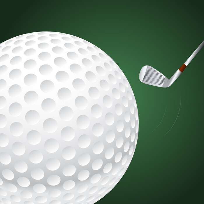 Gerahmtes Poster Vektor Golfball • Pixers® - Wir leben, um zu verändern