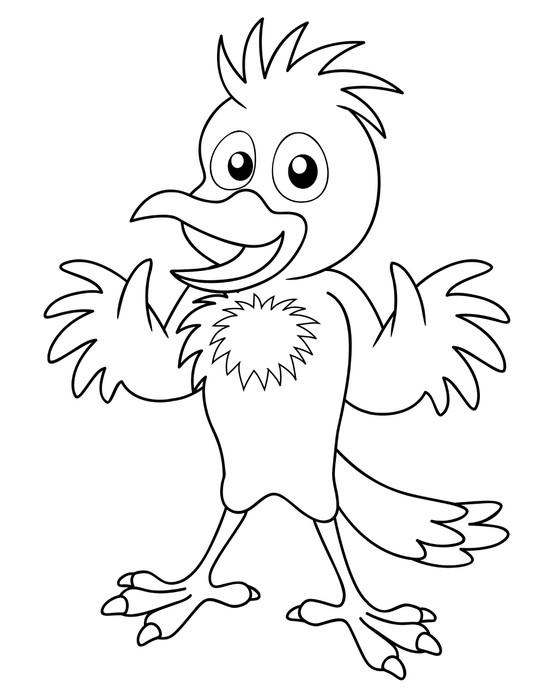 Fotomural Ilustración de la historieta del pájaro - libro para ...