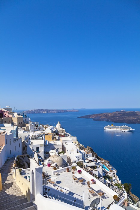 Vinylová Tapeta Ostrov Santorini, Řecko - Evropa