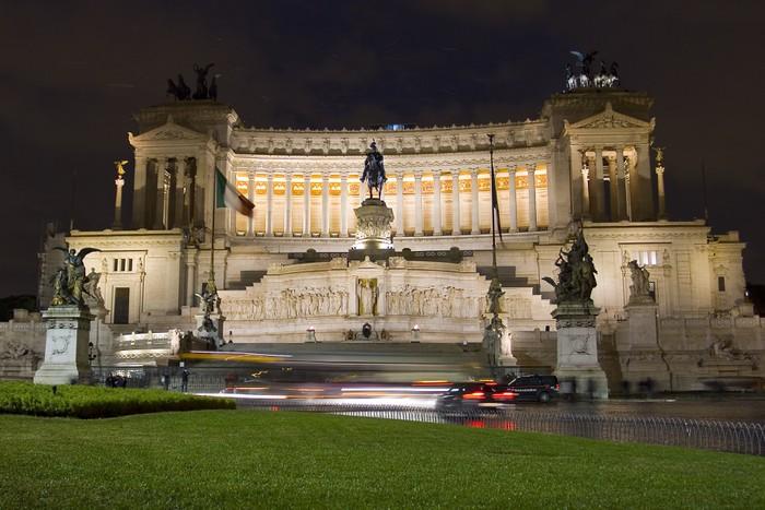 Vinylová Tapeta Vittoriano v noci, Řím - Evropská města