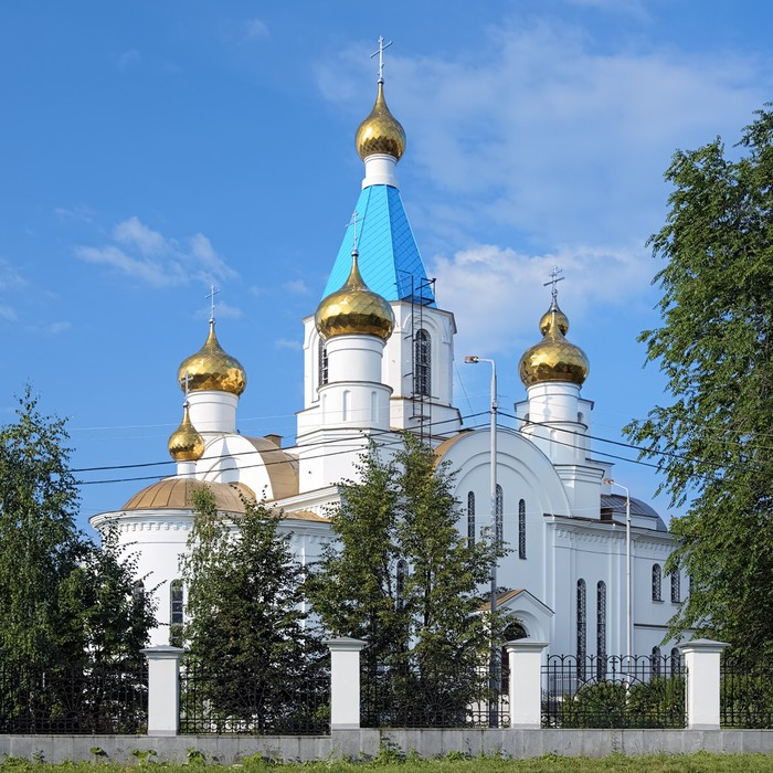 Vinylová Tapeta Narození kostel v ruském Jekatěrinburgu - Asie