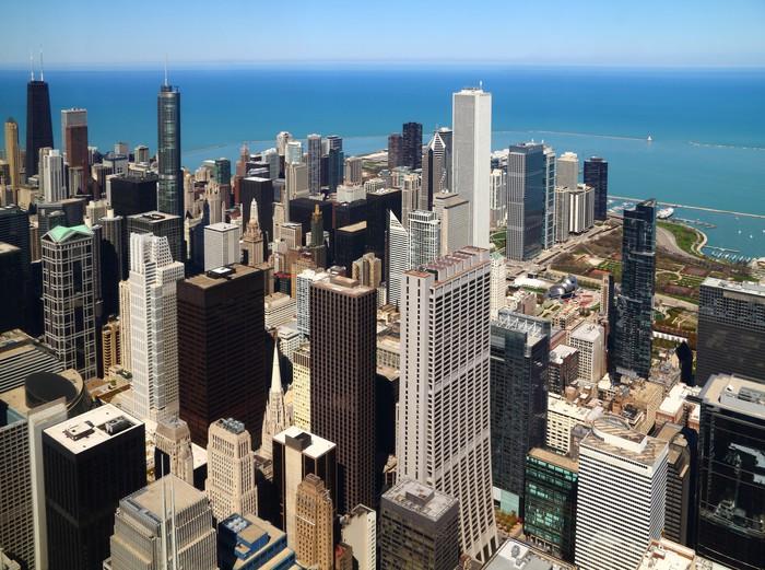 Vinylová Tapeta Downtown chicago letecký panorama - Jiné