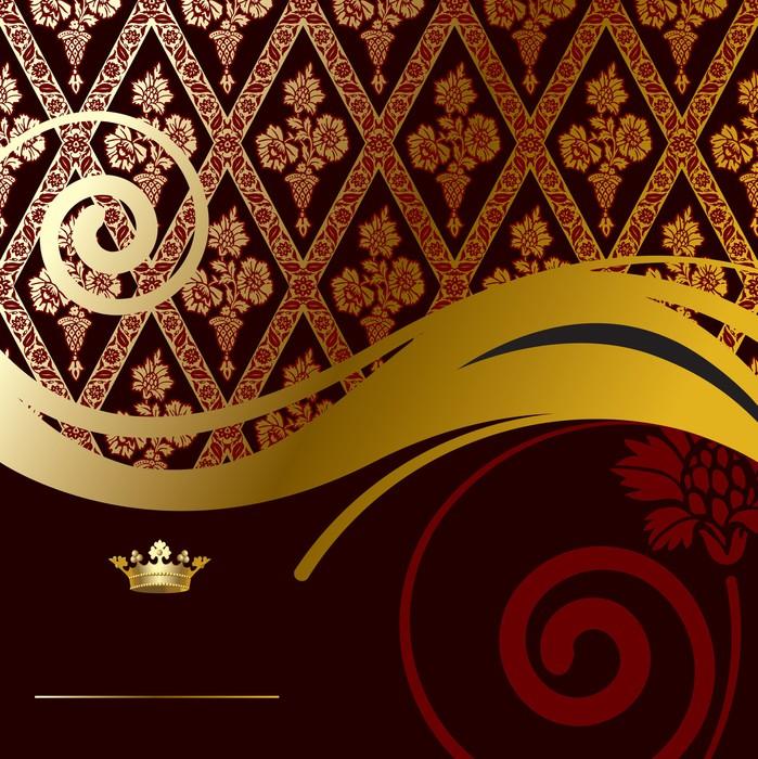 Vinylová Tapeta Gold barokní pozadí - Národní svátky