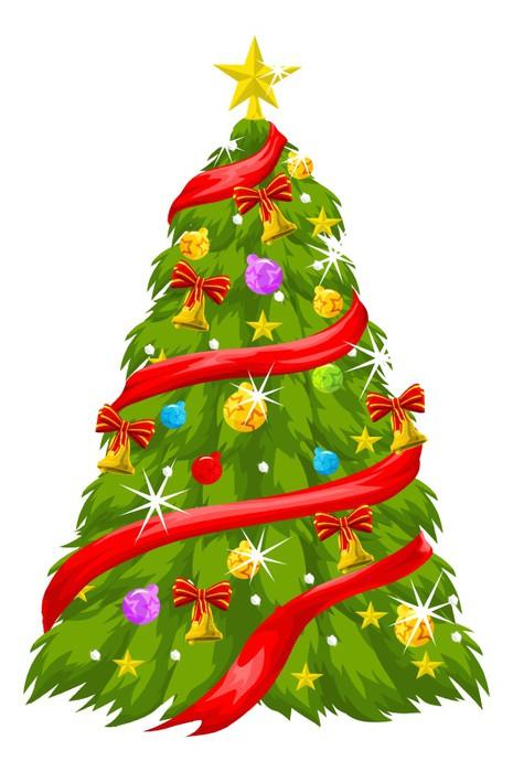 Christmas Tree, illustration Vinyl Wall Mural - International Celebrations