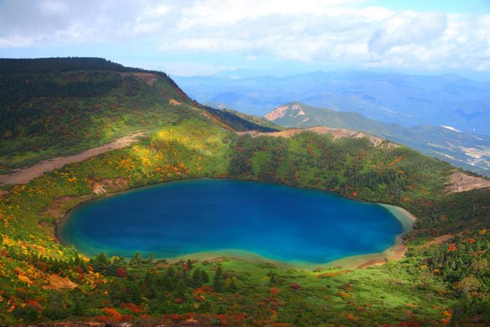 Vinylová Tapeta Podzimní modrá rybník v Fukushima, Japonsko - Témata