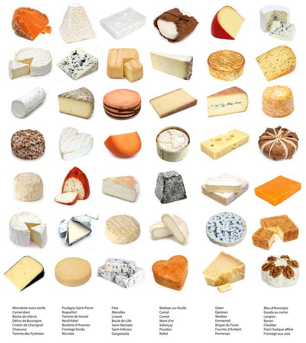 Papel pintado quesos franceses y europeos con nombres for Guisos franceses